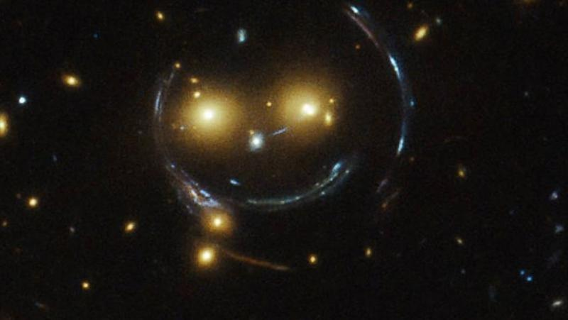 Smiley Face in Deep Space Captured by Hubble Telescope