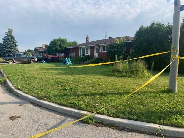 Ottawa police charged a 20-year-old man in the death of Christopher Avery Houghton inside a home on Sherry Lane in Nepean. (Natalia Goodwin/CBC - image credit)