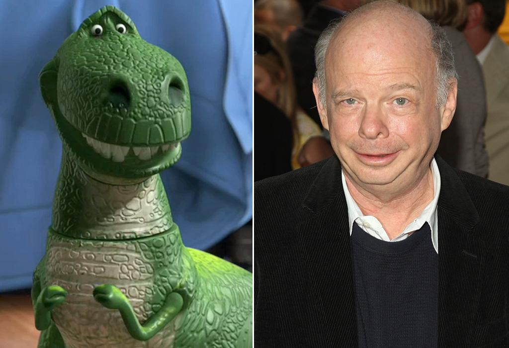 """REX/<a href=""""http://movies.yahoo.com/movie/contributor/1800022784"""">WALLACE SHAWN</a>  Best known for shouting """"Inconceivable"""" in """"<a href=""""http://movies.yahoo.com/movie/1800108021/info"""">The Princess Bride</a>"""", Wallace Shawn also played Rex -- the neurotic, insecure toy dinosaur -- in all three of the """"Toy Story"""" movies."""