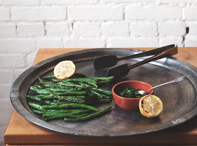 """<h2>8. Broiled Green Beans with Lemon Gremolata</h2> <p>Caution: You might start dipping everything in this spicy, lemony green sauce.</p> <p><a class=""""link rapid-noclick-resp"""" href=""""http://abetterhappierstsebastian.com/journal/2013/11/18/broiled-greenbeans-with-roasted-lemon-gremolata"""" rel=""""nofollow noopener"""" target=""""_blank"""" data-ylk=""""slk:Get the recipe"""">Get the recipe</a></p>"""