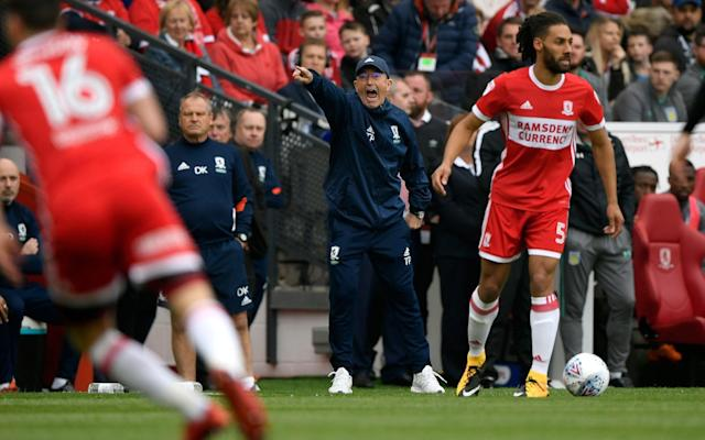 "Tony Pulis remains confident his Middlesbrough team are good enough to beat Aston Villa, as long as they play without any inhibitions in the second leg of their Championship play-off semi-final. Villa looked the more accomplished side as they secured a 1-0 away win in the first leg, but Pulis claimed he had not seen anything in their performance to suggest they have superior players. Pulis has tried to keep things calm in the aftermath of Saturday's narrow defeat and believes his side can still win at Villa Park, if they are at their best on Tuesday night. ""I'm not concerned about Aston Villa,"" Pulis said. ""I'm more concerned about us and the way we play, and what we're trying to achieve. That's the most important thing – that we turn up and are a little bit more clinical in the final third. ""My mindset is to get out there and we have got nothing to lose. Villa are in a strong position. Everybody is talking about Villa and saying they're favourites, so let's get out there and enjoy it and give it our best. ""That was the only real negative, apart from conceding from a set-play. It was really the only negative of the game on Saturday. We've done that all season. We've played well up until the final third, and if there has been a little bit of a weakness, it's been what we've been doing once we've got into that final third. Championship play-offs 2018 guide ""The most important thing is clearing the players' minds and making sure they're focused and ready to go. They have to know their jobs, and make sure they do them."" Villa have not lost this season after taking the lead in a game and Boro, who spent more than £50m on players in the summer in a bid to make an immediate return to the Premier League, will have to pull off a famous upset if they are going to achieve their pre-season goal. ""What people talk about outside the football club and whether Villa are favourites or not, to me that's all superficial,"" Pulis added. Aston Villa take a 1-0 lead into the second leg Credit: getty images ""What really, really matters is the dressing room and the people on the training ground being very, very focused in what we are trying to achieve on and off the ball. ""Their mind-set was right on Saturday, I had no problems with them. Some players played really well on Saturday, some didn't play at the level they can play at. ""But that wasn't from a lack of effort of lack of trying. What we have to do now is make sure they have no inhibitions. If we bring our A-game to Villa Park and we get the breaks and we get the run of the ball – which I don't think we did have on Saturday – then who knows?"""