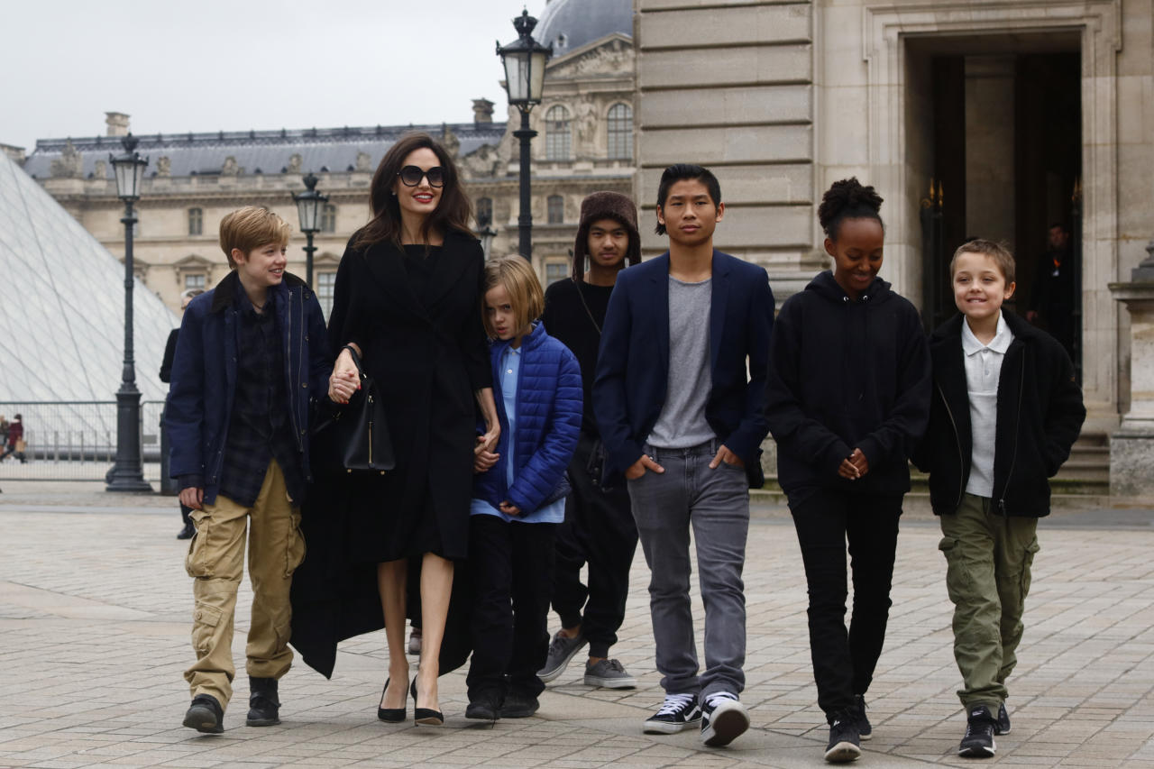 <p>Angelina Jolie and Brad Pitt's six children are looking more grown up than ever. Photo: Getty </p>