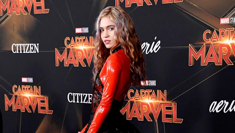 Grimes pictured at the Captain Marvel premiere in March 2019. (Getty Images)