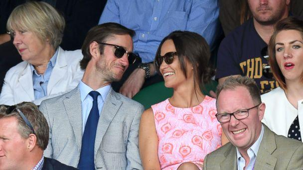 PHOTO: Pippa Middleton and James Matthews attend day nine of the Wimbledon Tennis Championships at Wimbledon July 6, 2016 in London. (Karwai Tang/Getty Images)