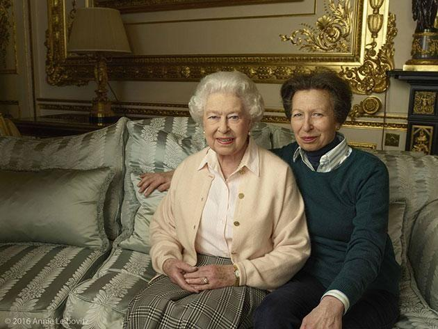 Her Majesty Queen Elizabeth II with her daughter, The Princess Royal. Photo: Facebook