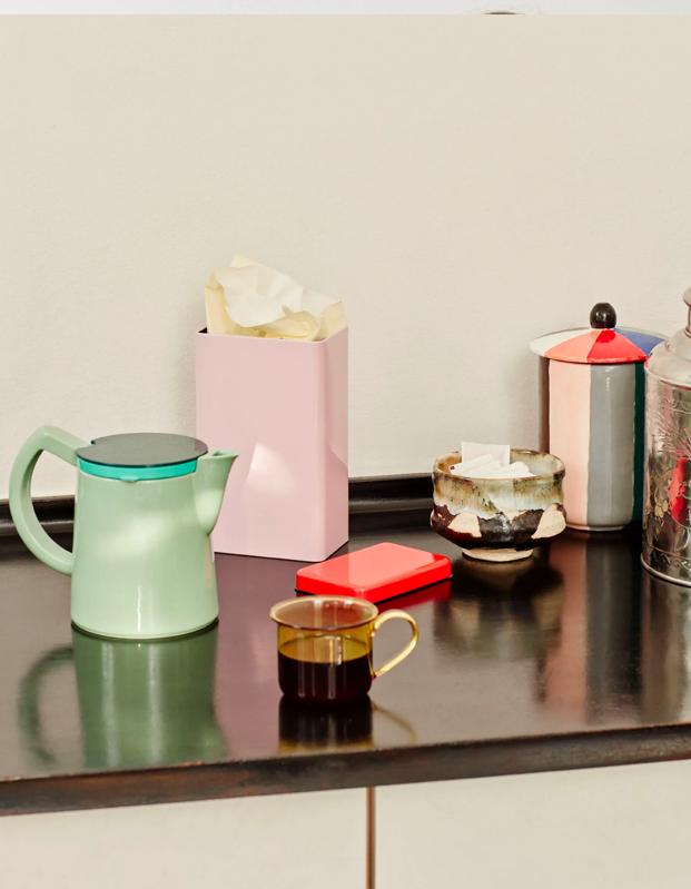 """College and coffee go hand in hand, and this chic porcelain coffee pot doubles as kitchen decor. $95, Hay. <a href=""""https://us.hay.com/accessories/by-room/kitchen/sowden-coffee-pot%2C-medium/100129711.html?lang=en_US"""" rel=""""nofollow noopener"""" target=""""_blank"""" data-ylk=""""slk:Get it now!"""" class=""""link rapid-noclick-resp"""">Get it now!</a>"""