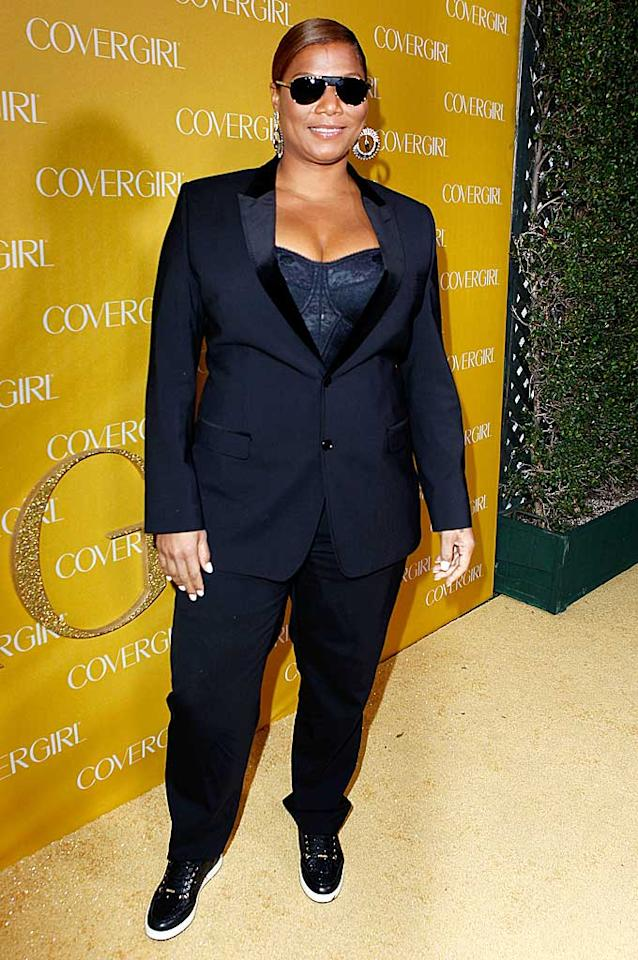 "Straight after hosting the People's Choice Awards in downtown L.A., Queen Latifah headed over to West Hollywood to represent at the CoverGirl bash. Busy lady! Jeff Vespa/<a href=""http://www.gettyimages.com/"" target=""new"">GettyImages.com</a> - January 5, 2011"
