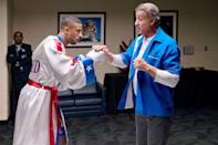 """<p>Adonis Creed is back at it again, but this time with a new opponent: Viktor Drago, the son of Ivan Drago, who killed Creed's father, Apollo, in the ring several decades ago. With a baby on the way and his relationship with Rocky on the rocks, Creed must decide what's more important in life: the past or his family's future.</p> <p><a href=""""http://www.hulu.com/movie/creed-ii-4fa1a602-83b4-4cd1-95cd-9e52c173d737"""" class=""""link rapid-noclick-resp"""" rel=""""nofollow noopener"""" target=""""_blank"""" data-ylk=""""slk:Watch Creed II on Hulu."""">Watch <strong>Creed II </strong>on Hulu.</a></p>"""