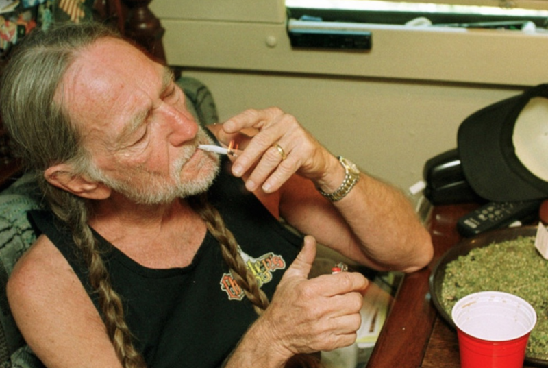 Willie Nelson is the chief tester at his weed company