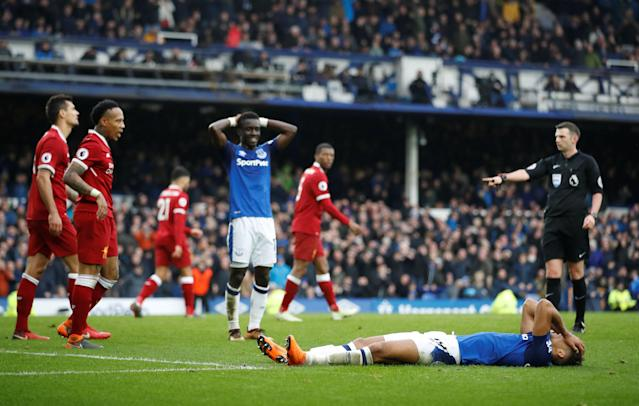 Everton squandered a few late chances in a 0-0 draw with Liverpool at Goodison Park in the last Merseyside Derby of the season. (Reuters)