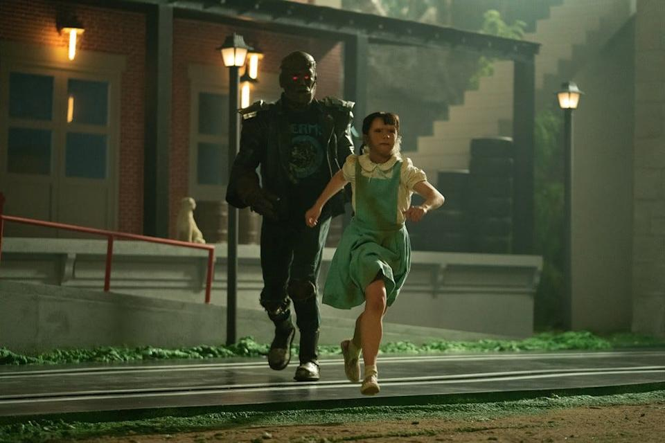 Clint Steele (left), voiced by Brendan Fraser, is a living brain inside a robot. Here, he's seen with Dorothy on season two.