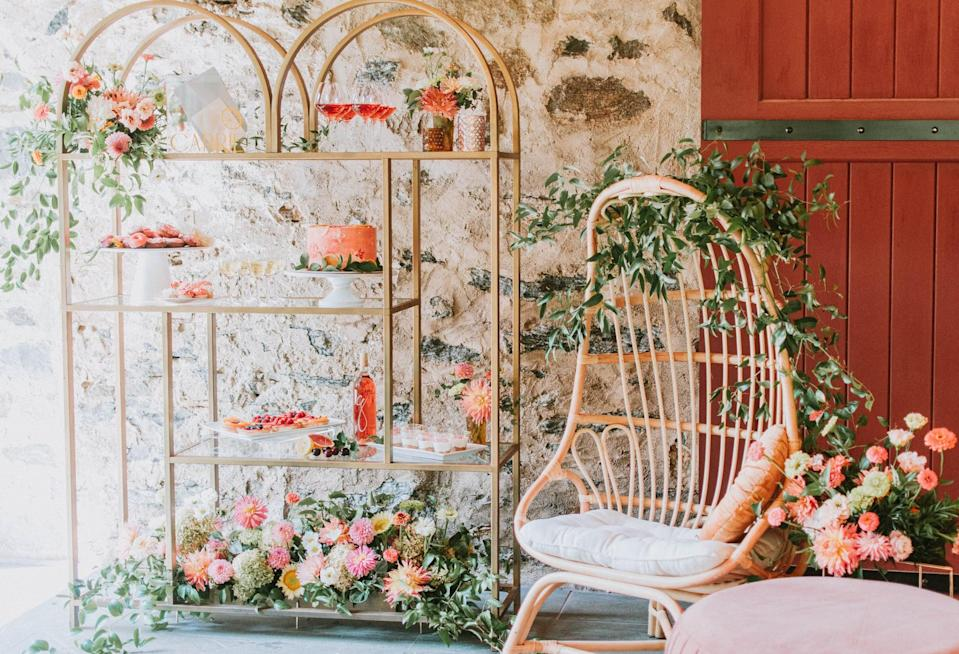<p>If your future bride wants a party that's tasteful and charming, opt for a Bohemian theme. Plants, rattan accessories, and flowers galore will make this theme come together in no time. Host this outside in a backyard or park, you can enjoy the added perks of nature and the sunshine.</p>