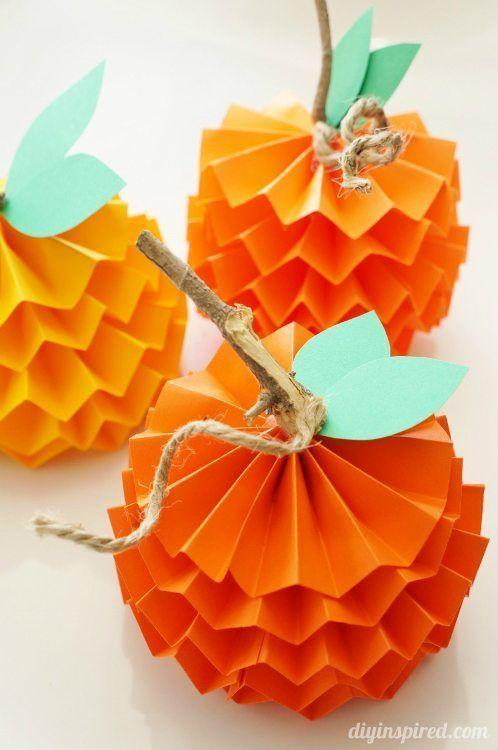 """<p>These paper pumpkins may look fancy, but they're actually super easy to make.</p><p><strong>Get the tutorial at <a href=""""https://www.diyinspired.com/how-to-make-paper-pumpkins-for-fall/"""" rel=""""nofollow noopener"""" target=""""_blank"""" data-ylk=""""slk:DIY Inspired"""" class=""""link rapid-noclick-resp"""">DIY Inspired</a>.</strong> </p>"""