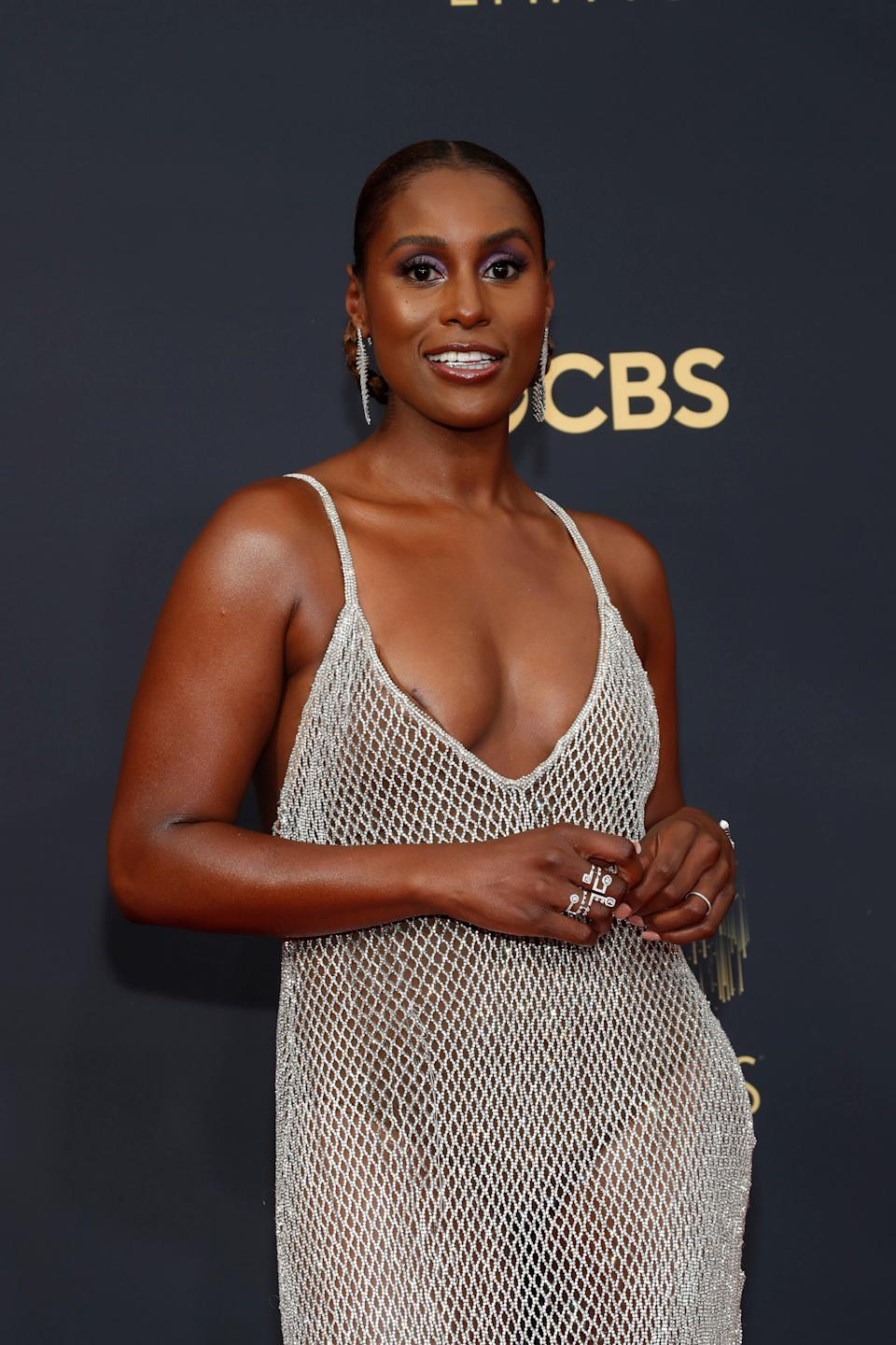 Issa Rae arrives at the 73rd Primetime Emmy Awards in Los Angeles, U.S., September 19, 2021. REUTERS/Mario Anzuoni