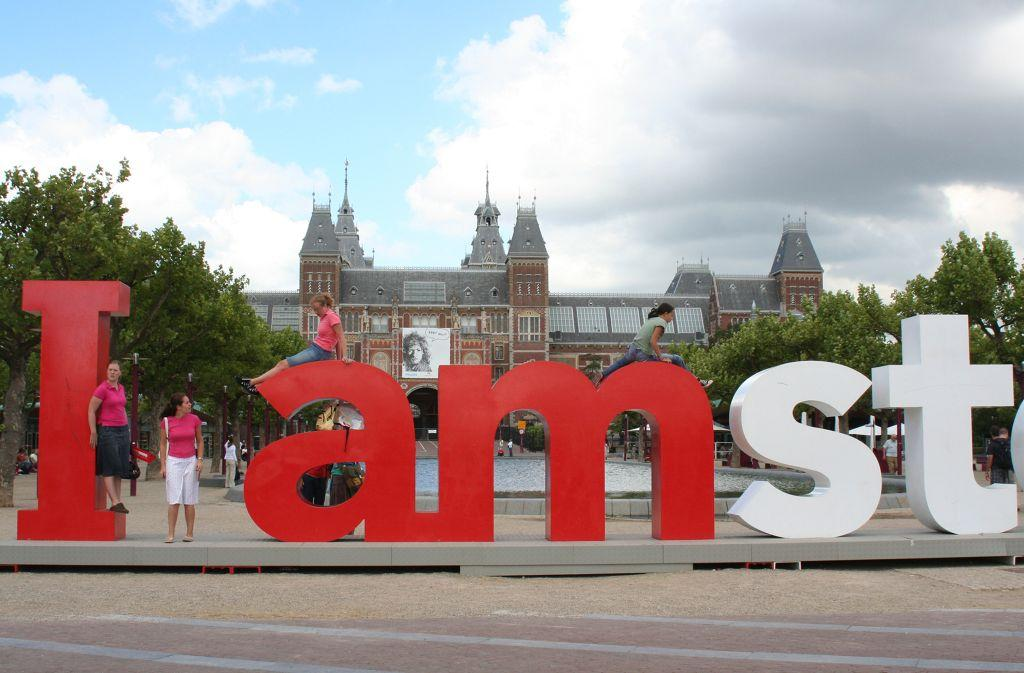 Huge letters in front of the Rijksmuseum let you know you are in Amsterdam.