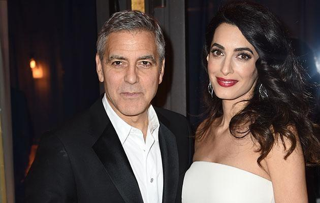 George and Amal. Source: Getty