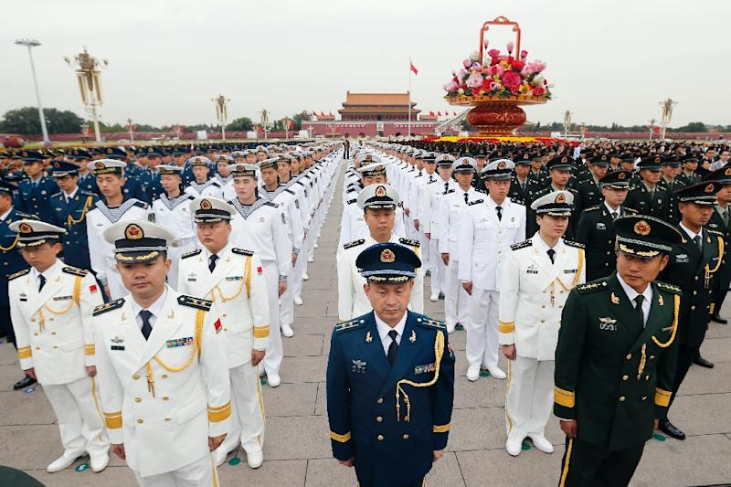 Beijing unveiled the latest annual double-digit increase in its military budget earlier this month, taking the official figure to 887 billion yuan (AFP Photo/)