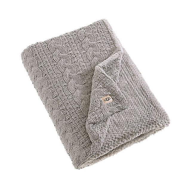 <p>If you're struggling to find a home gift for the person who has it all, you can't go wrong with a cozy cable-knit and faux fur throw blanket. </p>