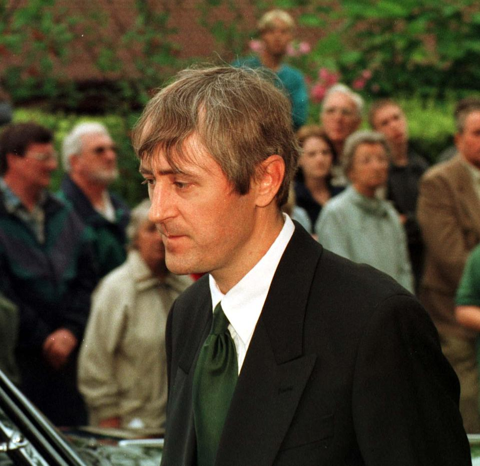 "Former ""Only Fools and Horses"" star Nicholas Lyndhurst ('Rodney') attends the funeral of Buster Merryfield - known to millions as 'Uncle Albert' in the BBC1 comedy series - at Verwood in Dorset. (Photo by Barry Batchelor - PA Images/PA Images via Getty Images)"