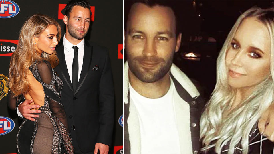 Nadia and Jimmy Bartel, pictured here before their marriage breakdown.