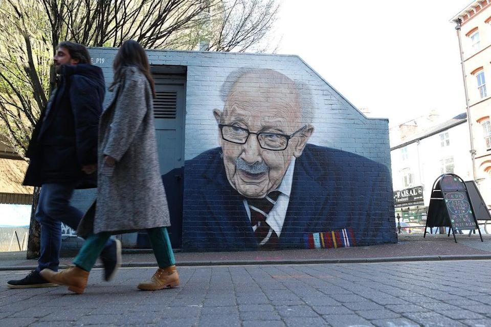 Captain Sir Tom Moore raised millions for the NHS (Peter Byrne/PA) (PA Wire)