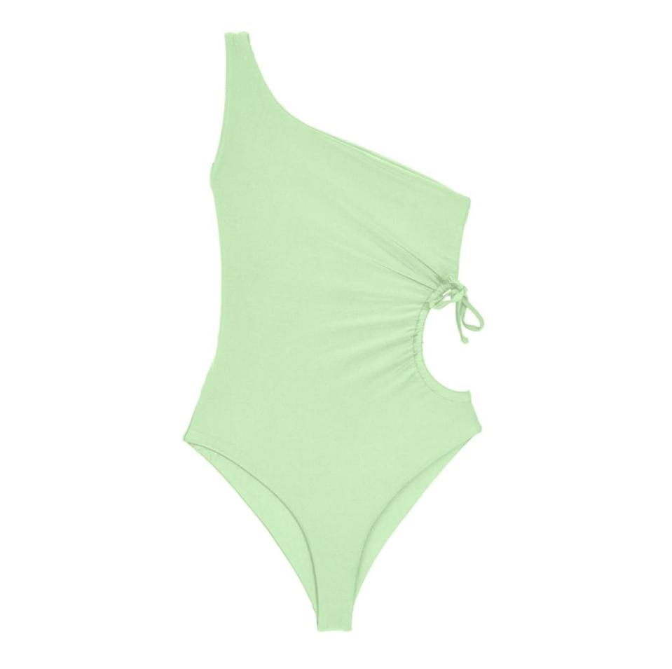 """<p>""""This cool asymmetrical <span>JADE SWIM Sena One Piece</span> ($225) is currently at the top of my wish list. I am loving the sky blue color for spring, but it comes in many other shades as well."""" - MCW</p>"""