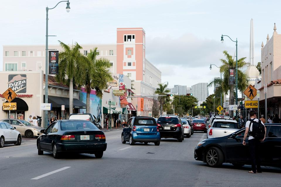 Historic Calle Ocho in Little Havana was once a predominantly Cuban neighborhood, but that's changed because of development and demographics. Cubans make up only a third of the population in Little Havana.