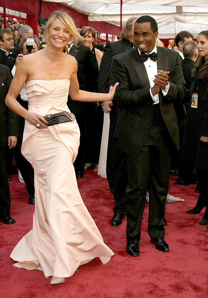 "What do a huge Hollywood actress and a rap mogul have in common? A lot if they're Cameron Diaz and Sean ""Diddy"" Combs. The twosome reportedly first hooked up in 2008 after meeting at the Oscars. But after failed romances on both their parts, Diaz and Diddy reunited in October 2011 following her split from Alex Rodriguez -- and the two have been spotted out together all over ever since, including at a Golden Globes after party last month!"