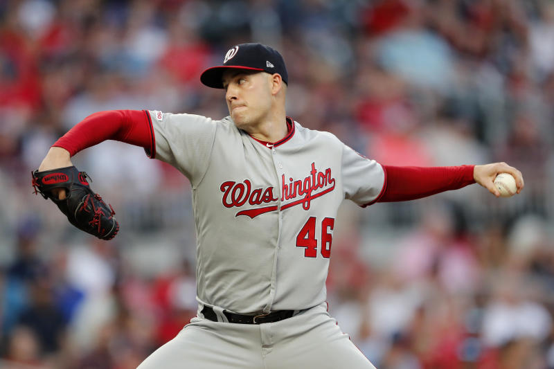 Washington Nationals starting pitcher Patrick Corbin was arguably the best signing in free agency last winter. (AP Photo/John Bazemore)