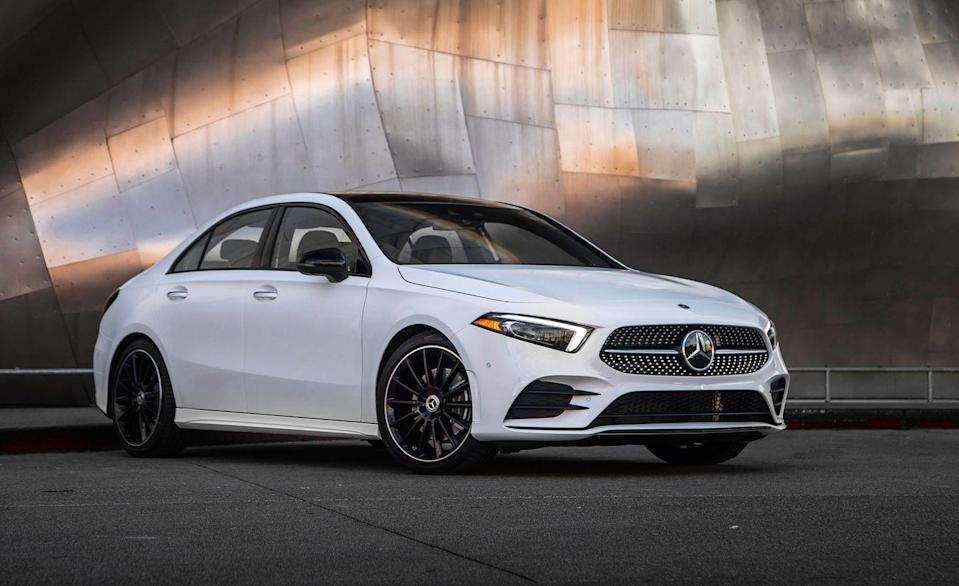 "<p>The <a href=""https://www.caranddriver.com/mercedes-benz/a-class"" rel=""nofollow noopener"" target=""_blank"" data-ylk=""slk:A-class"" class=""link rapid-noclick-resp"">A-class</a> is the smallest Mercedes-Benz you can buy. It also is the cheapest, starting at only $34,700. Unlike Benz's first experiment with a low-cost sedan for the U.S., the CLA-class, the <a href=""https://www.caranddriver.com/reviews/a23360933/2019-mercedes-benz-a-class-sedan-entry-luxury-drive/"" rel=""nofollow noopener"" target=""_blank"" data-ylk=""slk:A-class truly feels like a Mercedes"" class=""link rapid-noclick-resp"">A-class truly feels like a Mercedes</a>, only smaller. Whereas the original CLA-class suffered from mediocre interior materials and at-times unrefined driving qualities, the A-class features premium materials inside and sports a slick new infotainment system.</p><ul><li>Engine: 188-hp turbocharged 2.0-liter inline-four </li><li>Cargo space: 9 cubic feet </li></ul><p><a class=""link rapid-noclick-resp"" href=""https://www.caranddriver.com/mercedes-benz/a-class/specs"" rel=""nofollow noopener"" target=""_blank"" data-ylk=""slk:MORE A-CLASS SPECS"">MORE A-CLASS SPECS</a></p>"