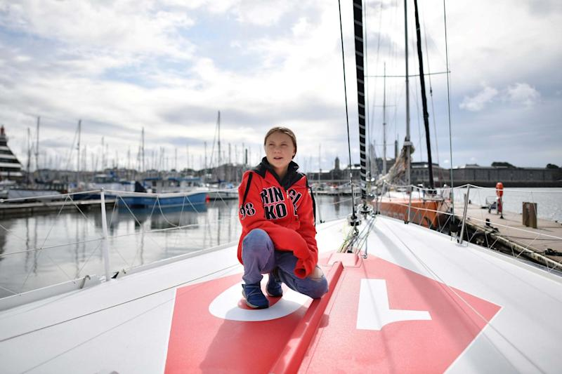 The 16-year-old Swede sets sail for New York this week to take her message to the United States (AFP/Getty Images)
