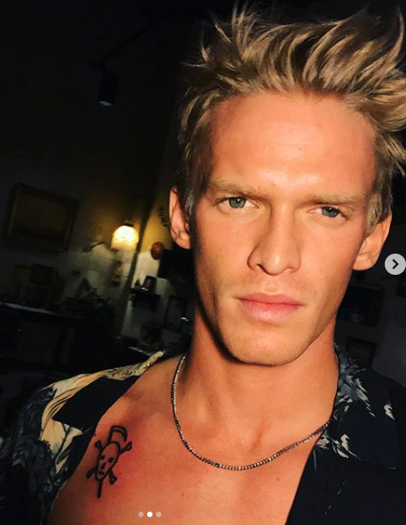 Cody went for a more simple skull and crossbones motif. Photo: Instagram/codysimpson