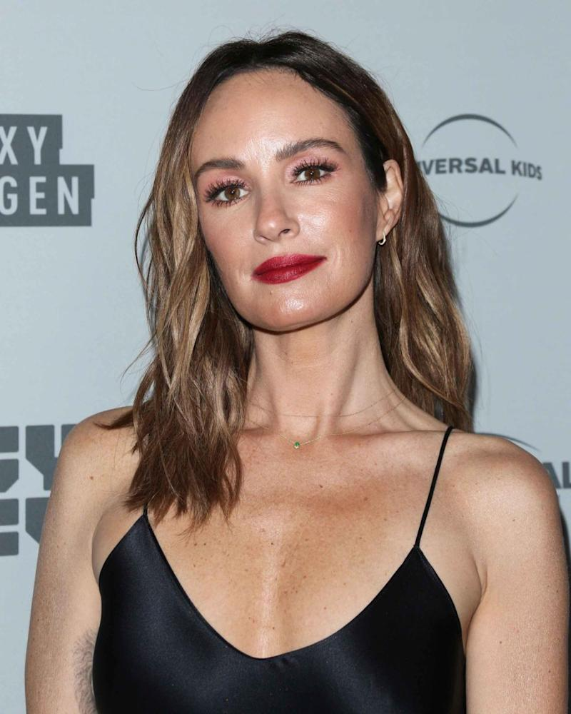 Catt Sadler, here in November 2017, is a former E! presenter who departed from the entertainment company following an equal pay dispute in December 2017. Source: Getty