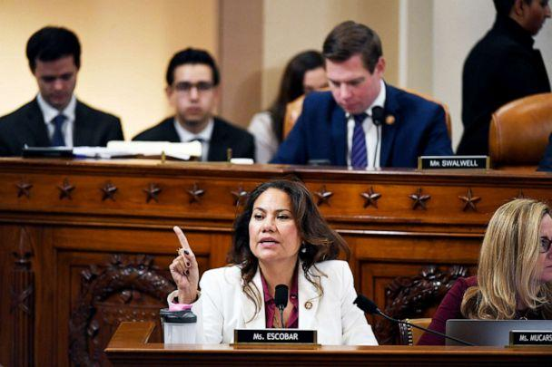 PHOTO: Rep. Veronica Escobar speaks during a House Judiciary Committee markup of Articles of Impeachment against President Donald Trump in Washington, Dec. 12, 2019. (The Washington Post via Getty Images, FILE)