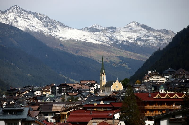 A general view of the ski resort in Ischgl