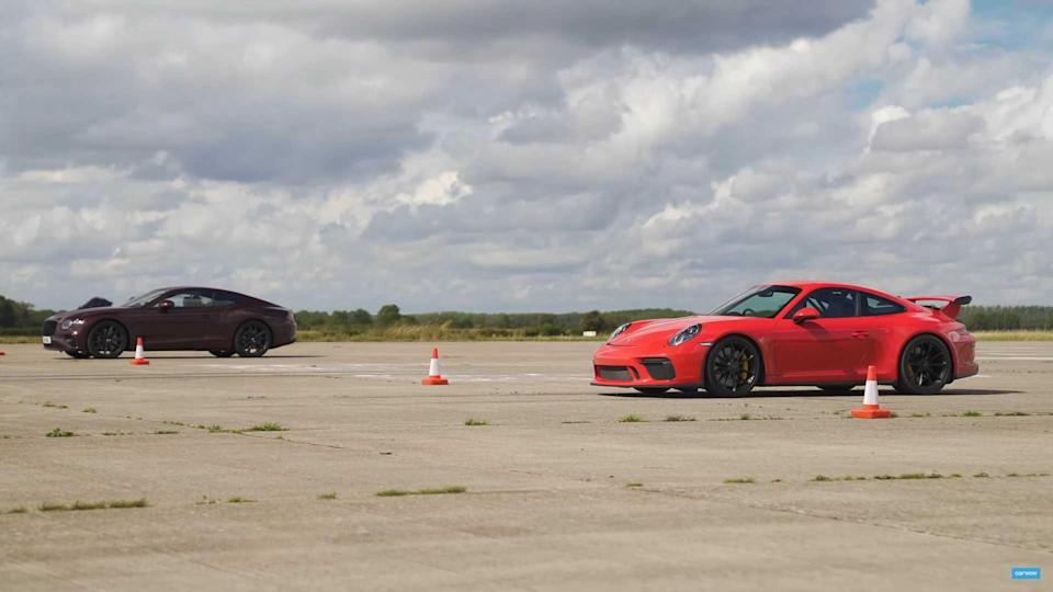 Bentley Versus Porsche Drag Race
