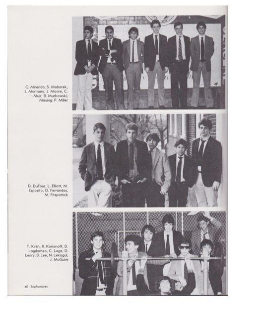 From the 1983/1984 Georgetown Prep yearbook,Brian Murkowski is in the top photo on the far right. (Photo: Georgetown Prep yearbook)