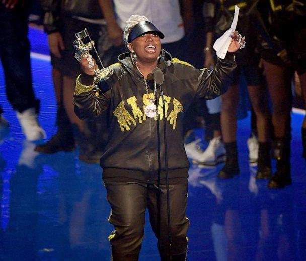 PHOTO: Missy Elliott accepts an award during the 2019 MTV Video Music Awards at Prudential Center, Aug. 26, 2019 in Newark, N.J. (Mike Coppola/Getty Images for MTV)
