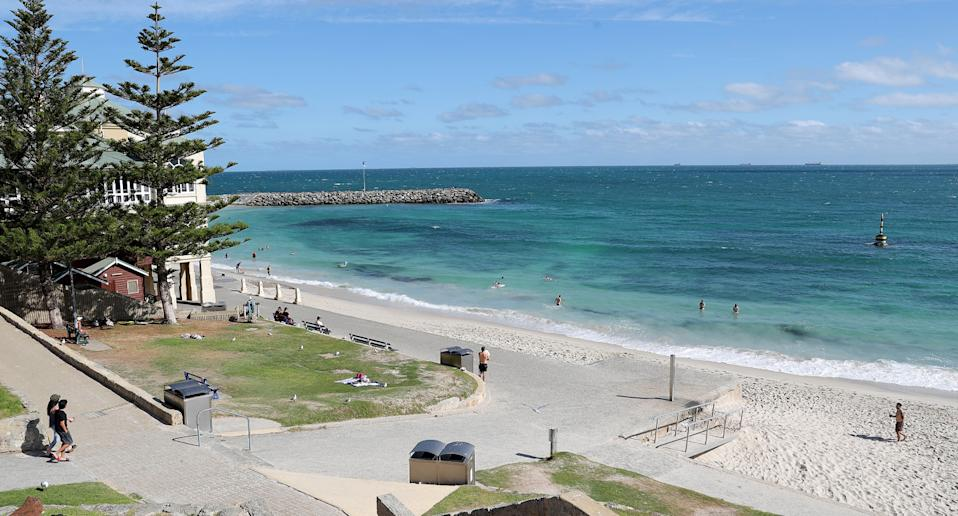 Cottesloe beach in Perth, where the creature was found.
