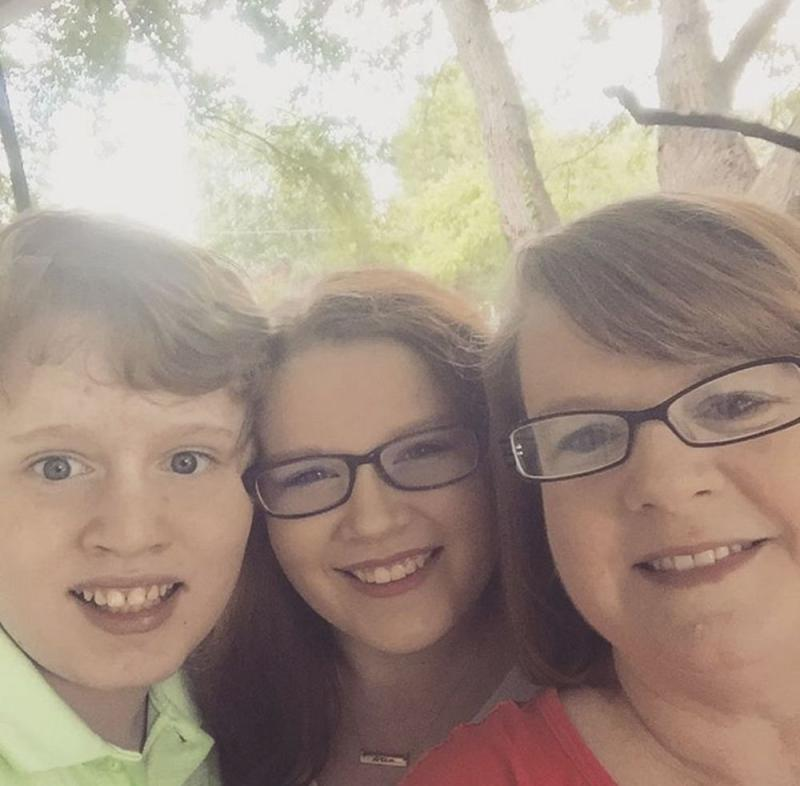 Julie Burr (right) and two of her children