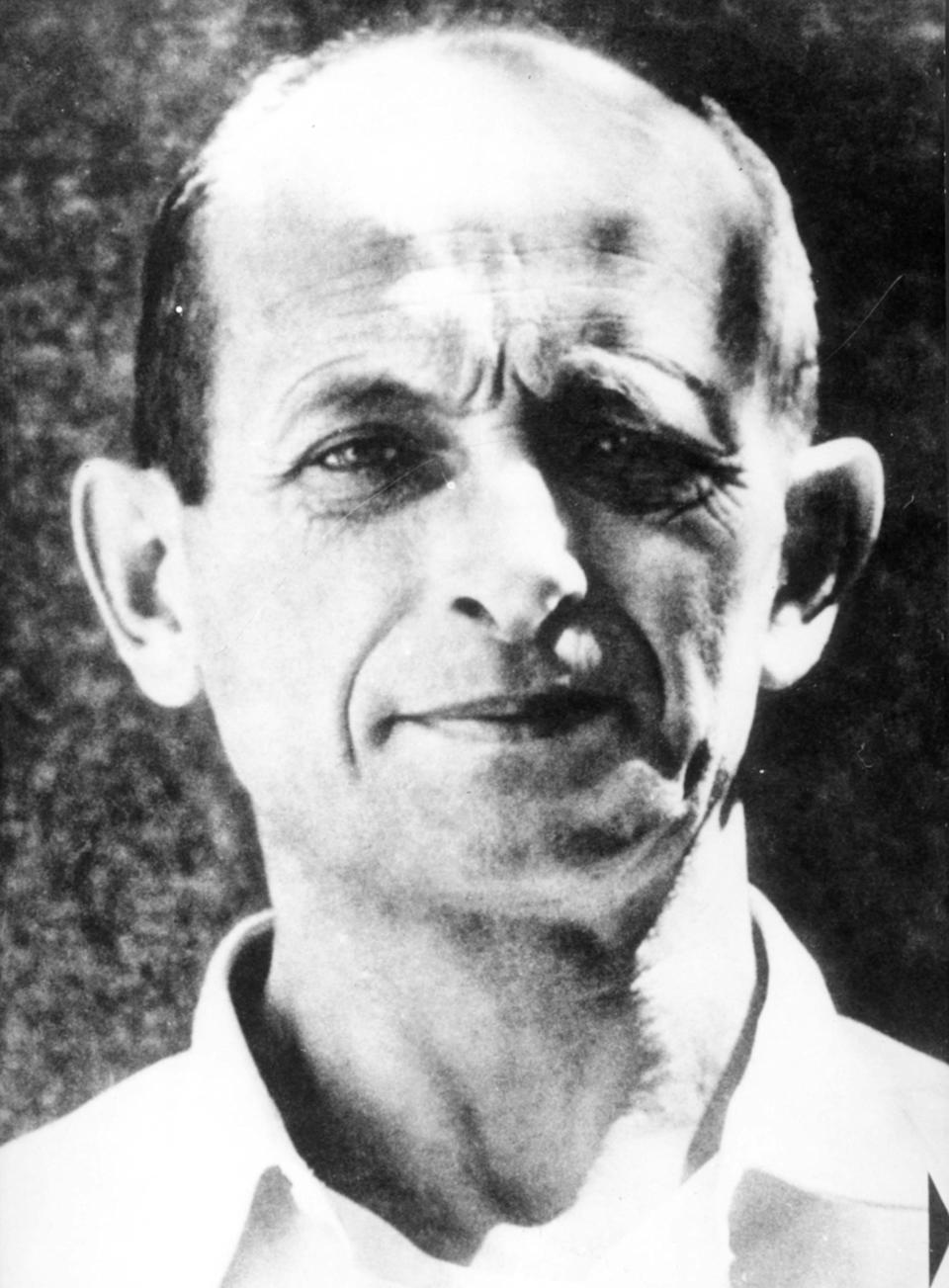 Adolf Eichmann Who Is One Of The Founders Of Gas Chambers And Other Extermination Equipment In Oswiecim (Auschwitz) After Arrest In Israel. World War Ii. (Photo by: Sovfoto/Universal Images Group via Getty Images)