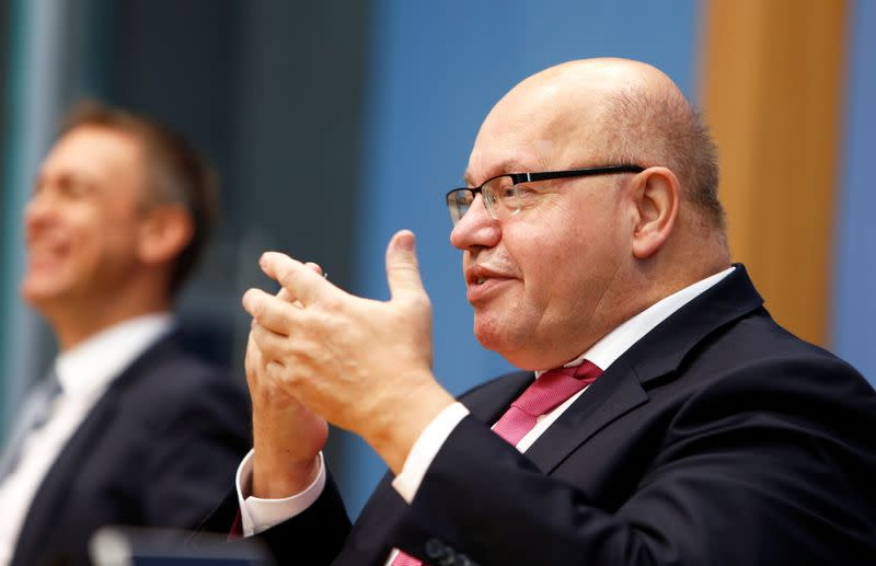 News conference on the government's economic autumn projection in Berlin
