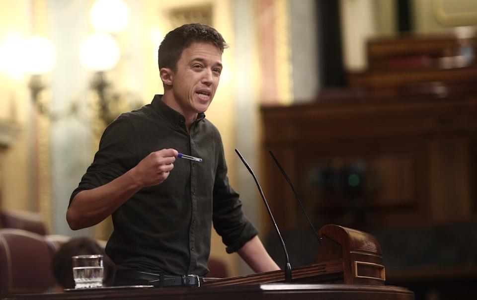 Íñigo Errejón en una intervención en el Congreso. (Photo by Europa Press News/Europa Press via Getty Images)