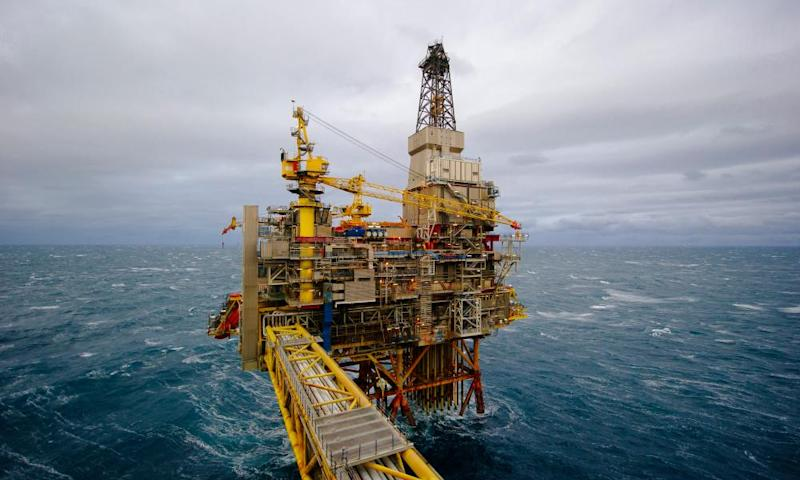 The Oseberg offshore gas platform in the North Sea near Norway.