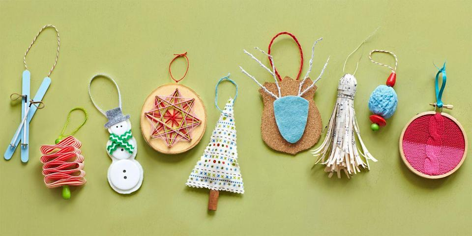 """<p>Add onto their tree with these pretty <a href=""""https://www.countryliving.com/diy-crafts/how-to/g1070/easy-to-make-christmas-ornament-crafts/"""" rel=""""nofollow noopener"""" target=""""_blank"""" data-ylk=""""slk:DIY Christmas ornaments"""" class=""""link rapid-noclick-resp"""">DIY Christmas ornaments</a>.</p><p><strong><a href=""""https://www.countryliving.com/diy-crafts/how-to/g1070/easy-to-make-christmas-ornament-crafts/"""" rel=""""nofollow noopener"""" target=""""_blank"""" data-ylk=""""slk:Get the tutorials."""" class=""""link rapid-noclick-resp"""">Get the tutorials<strong>.</strong></a></strong> <strong><a href=""""https://www.countryliving.com/diy-crafts/how-to/g1070/easy-to-make-christmas-ornament-crafts/"""" rel=""""nofollow noopener"""" target=""""_blank"""" data-ylk=""""slk:"""" class=""""link rapid-noclick-resp""""><br></a></strong></p><p><strong><a class=""""link rapid-noclick-resp"""" href=""""https://www.amazon.com/UoUo-Unfinished-Predrilled-Ornaments-Decoration/dp/B077GS518T/?tag=syn-yahoo-20&ascsubtag=%5Bartid%7C10050.g.645%5Bsrc%7Cyahoo-us"""" rel=""""nofollow noopener"""" target=""""_blank"""" data-ylk=""""slk:SHOP WOOD SLICES"""">SHOP WOOD SLICES<br></a></strong></p>"""