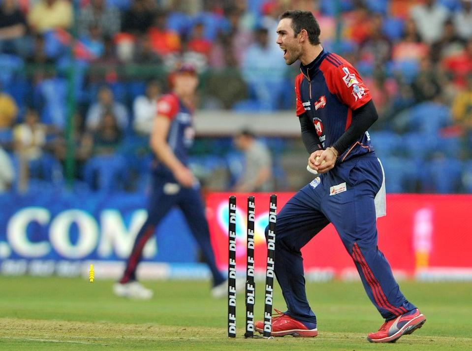 Glenn Maxwell in action for Royal Challengers Bangalore (AFP via Getty Images)