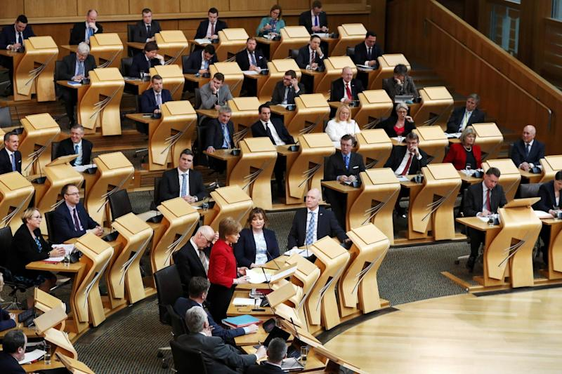 MSPs debate on a second referendum on independence at Scotland's Parliament in Holyrood: Getty Images