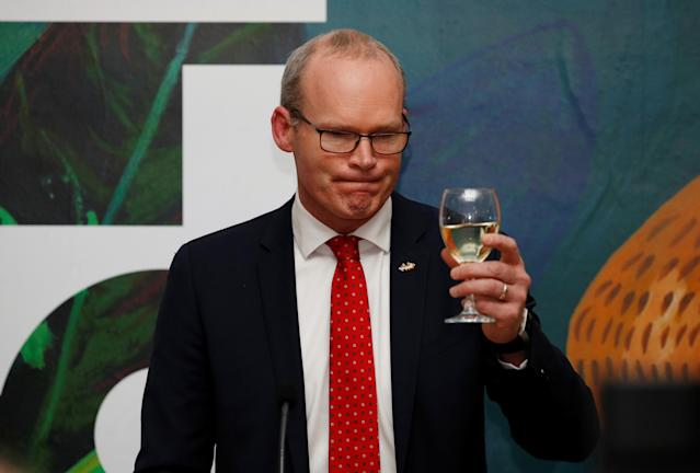 The reception was hosted by Simon Coveney. (Getty Images)