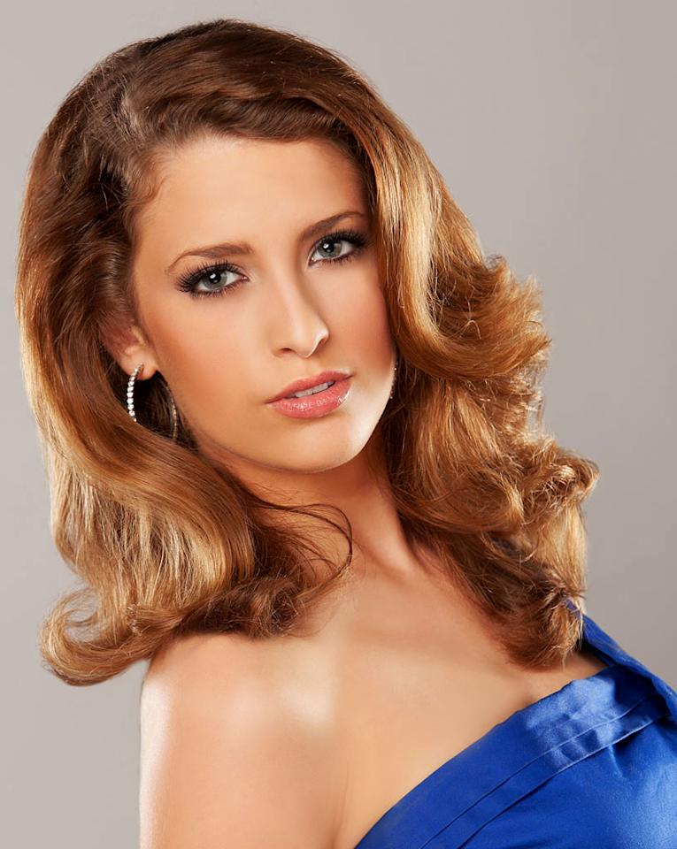 """Miss Delaware, Maria Cahill is a contestant in the """"<a href=""""/2012-miss-america-pageant/show/48165"""">2012 Miss America Pageant</a>."""""""