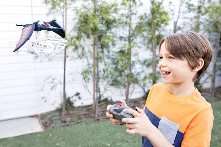 Mattel's Jurassic World drone lets your kid fly a pterodactyl of their own.